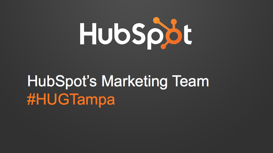 Click here to download the slides from our HUG presentation!